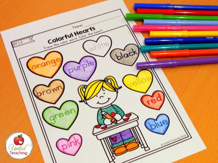 Valentine Colorful Hearts
