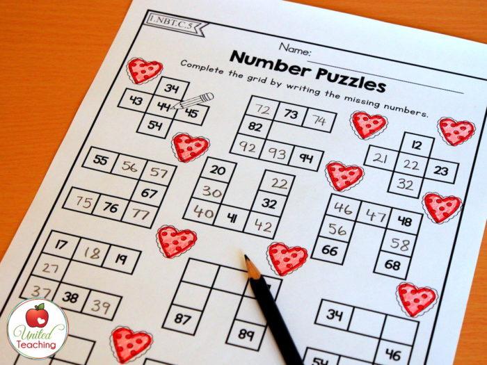 Valentine Number Puzzles
