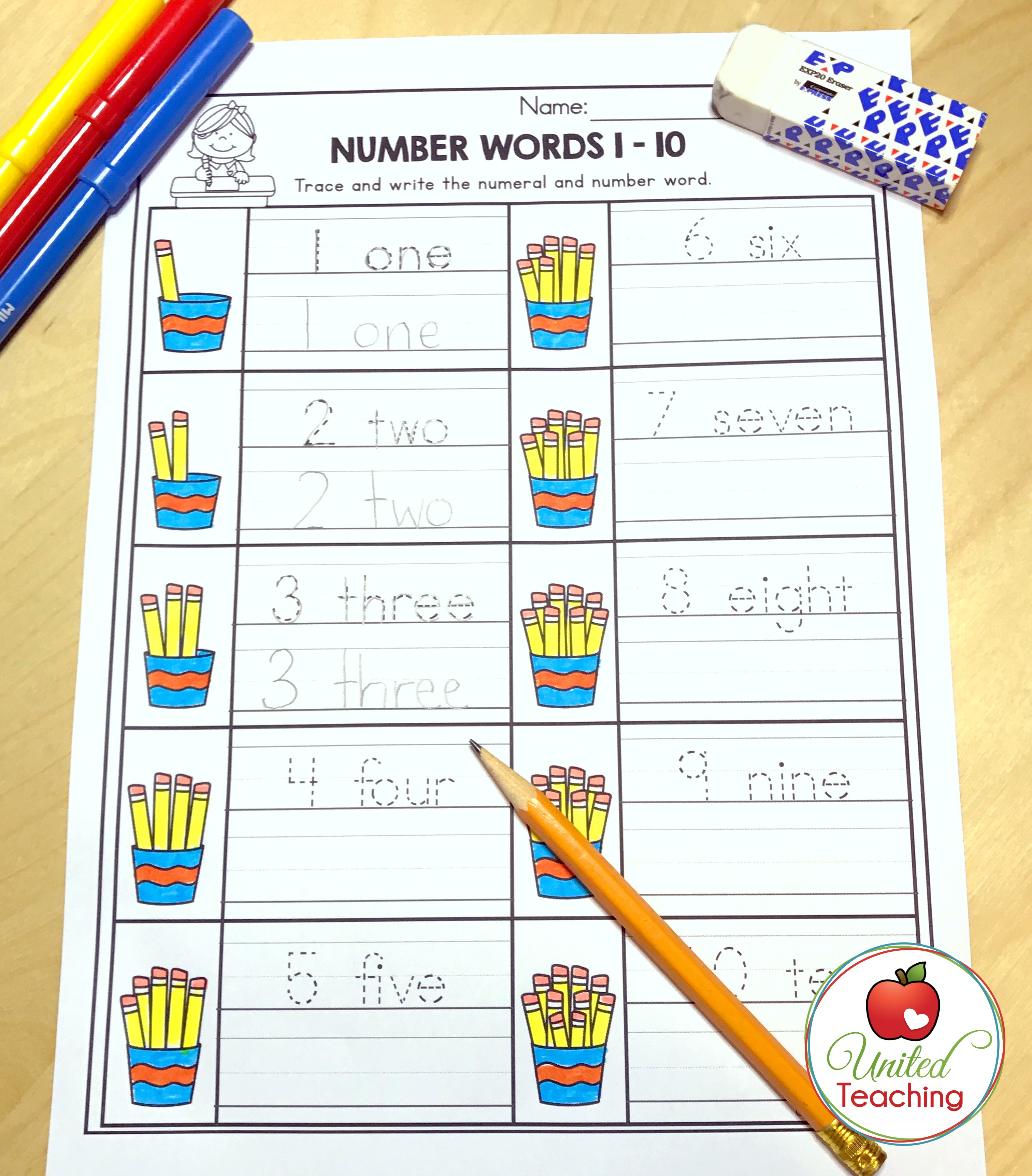 Number Words 1-10