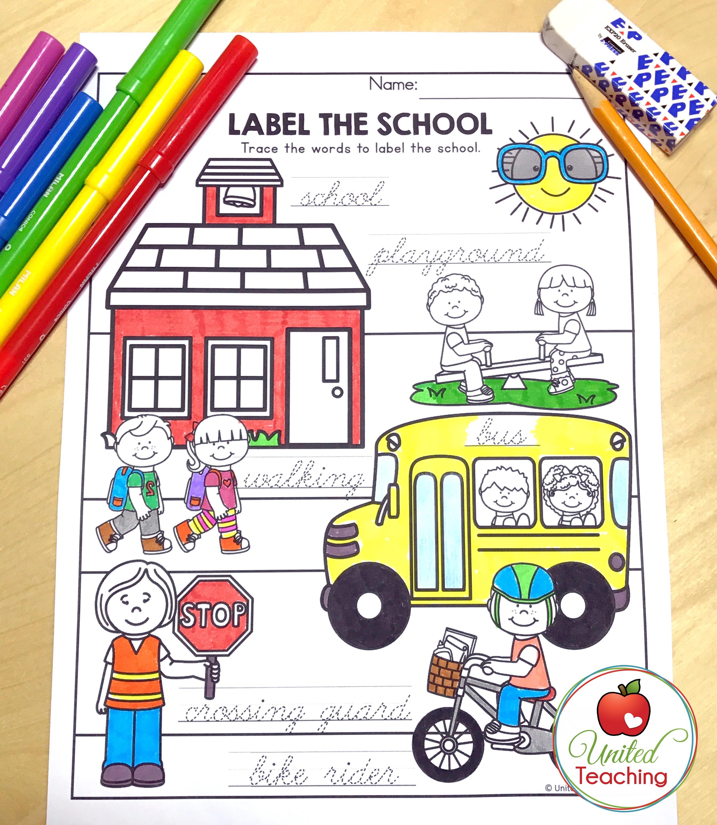 Label the School