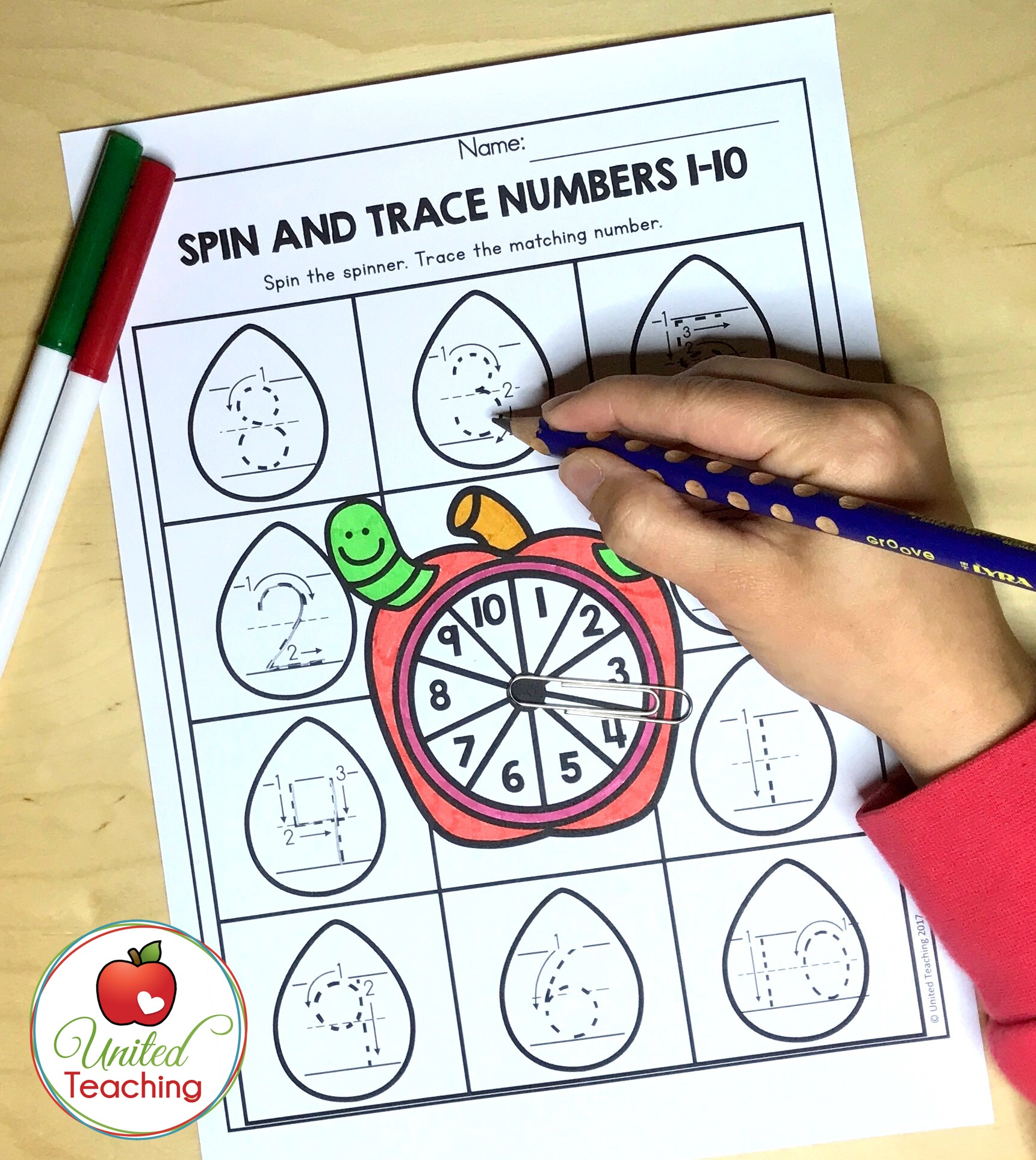 Spin and Trace Numbers 1-10