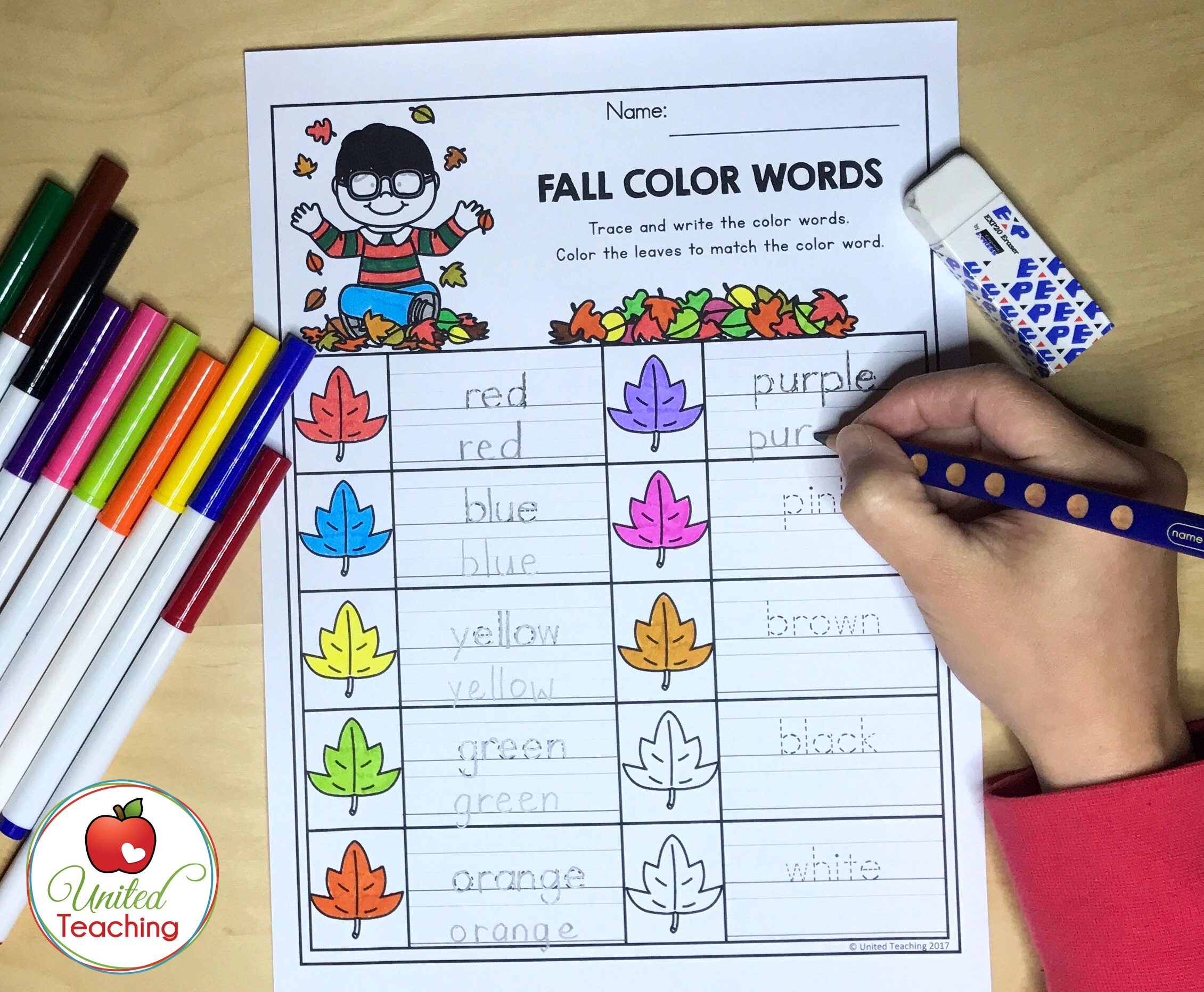 Fall Color Words