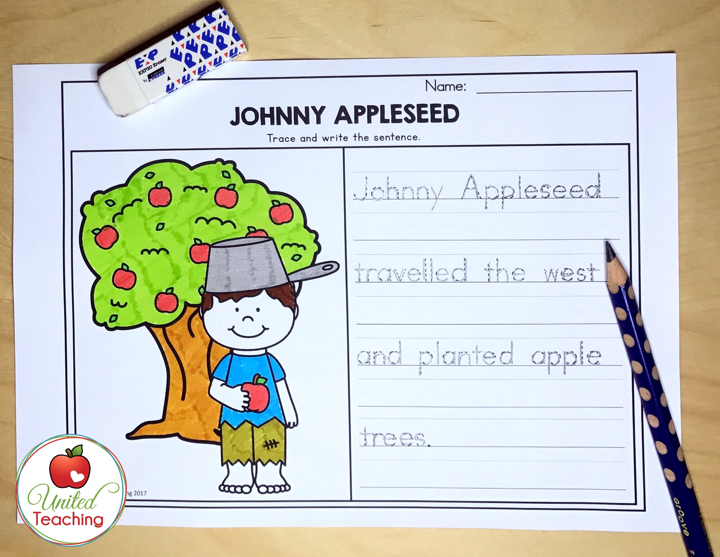 Johnny Appleseed Handwriting