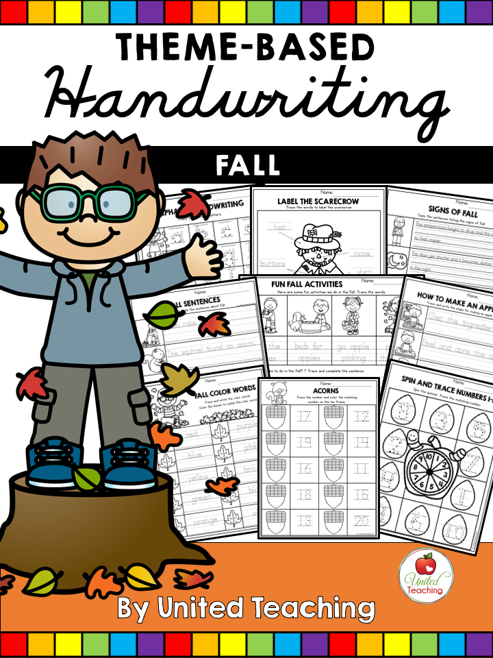 Fall Theme Based Handwriting Lessons