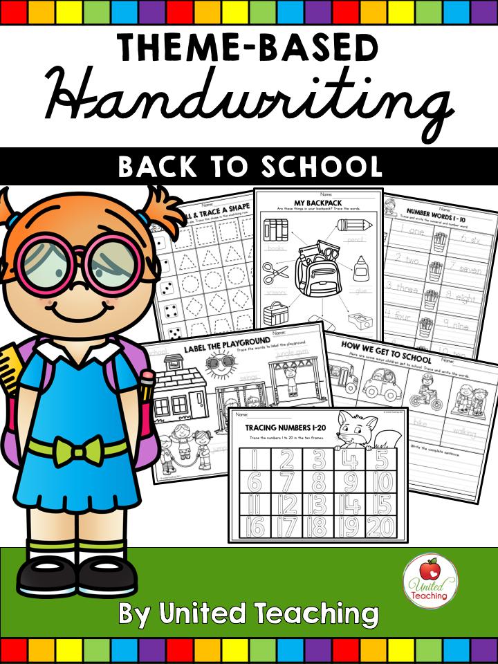 Back to School Theme Based Handwriting