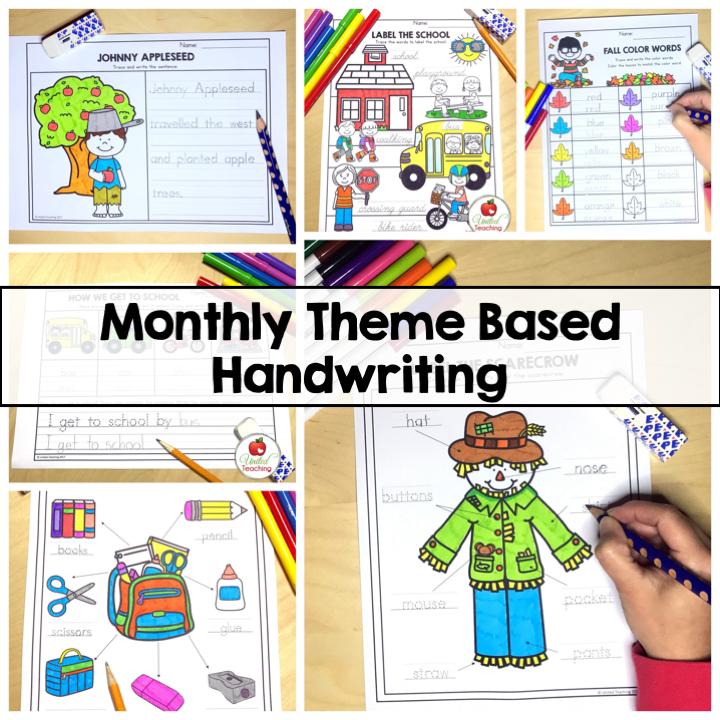Monthly Theme Based Handwriting