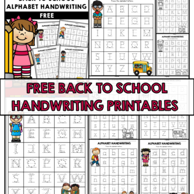 Free Back to School Handwriting Printables