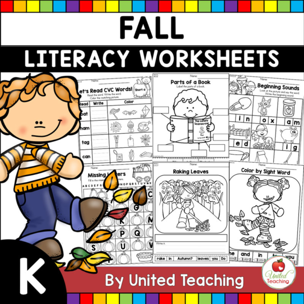 Fall Literacy Activities K Cover