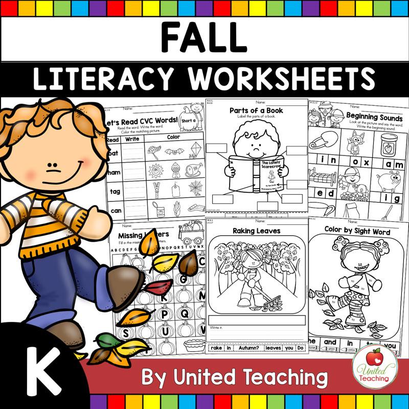 Fall Literacy Activities (Kindergarten) - United Teaching