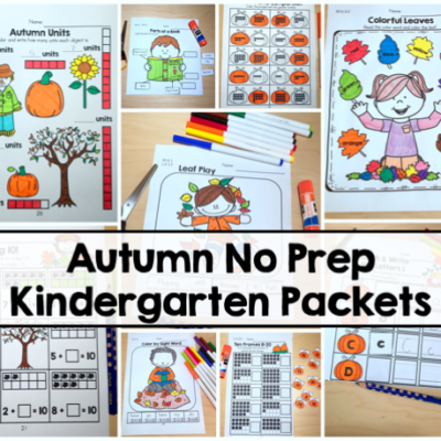 Autumn No Prep Kindergarten Packets