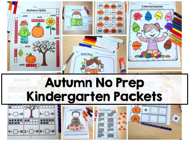 Autumn Kindergarten No Prep Packets