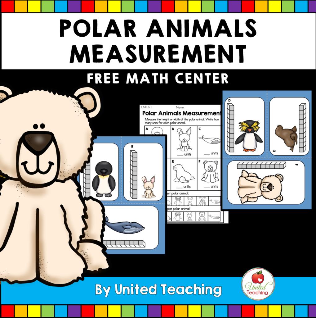 Free Polar Animals Measurement Math Center