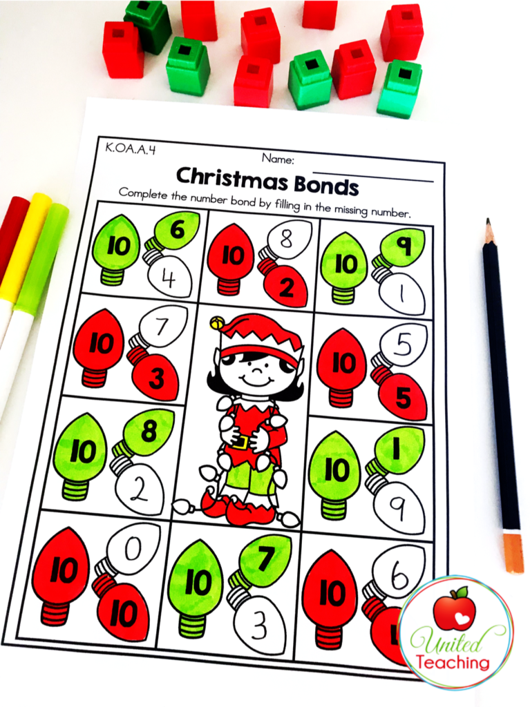 Christmas Bonds Math Activity