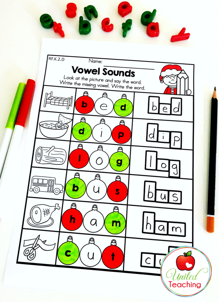 Vowel Sounds Activity