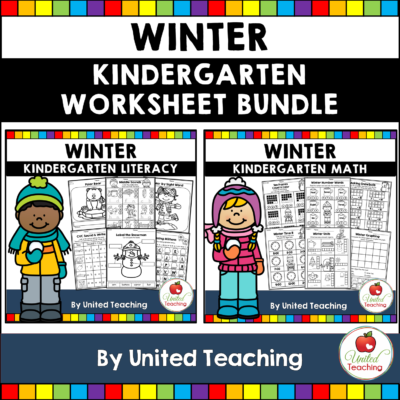 Winter Math and Literacy Kindergarten Bundle