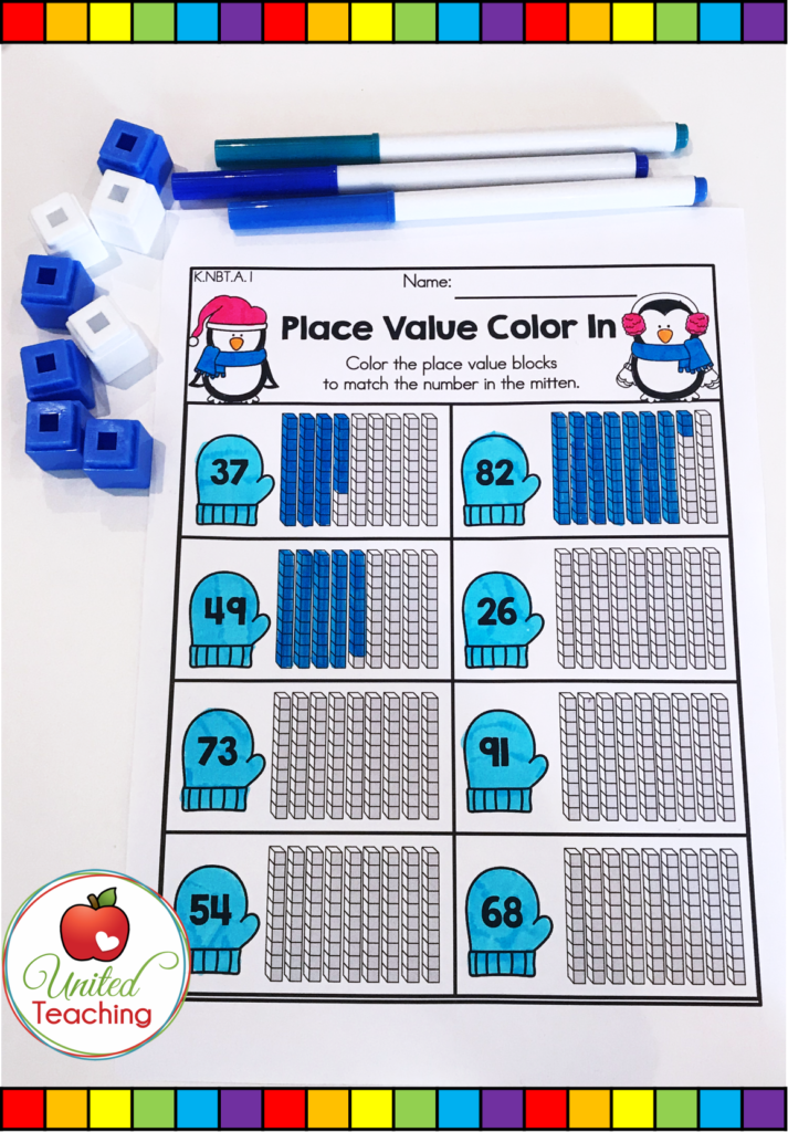 Place Value Color In Worksheet