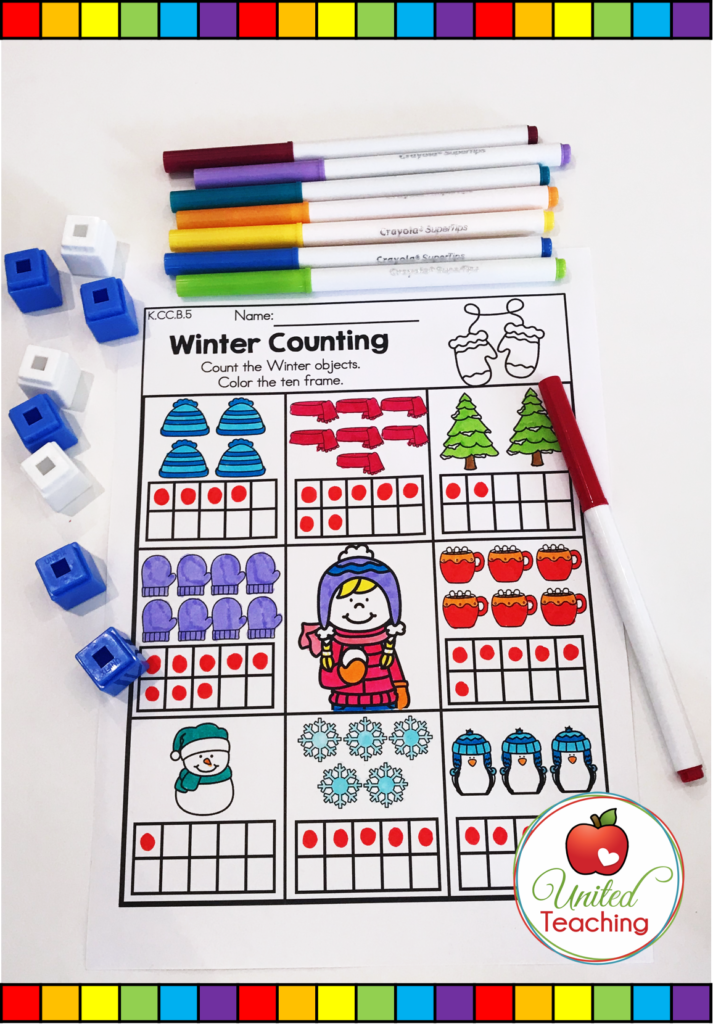 Winter Counting Math Activity
