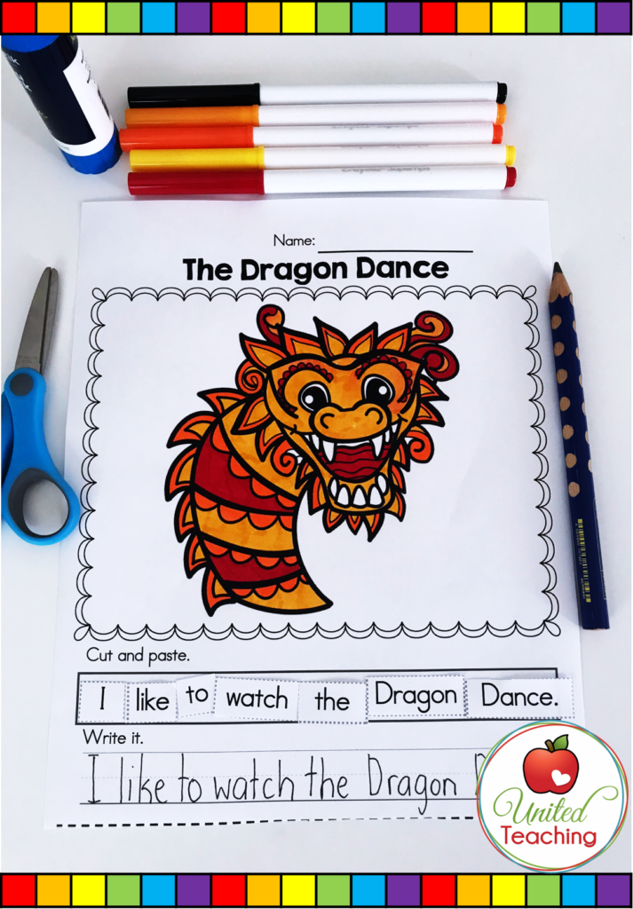 The Dragon Dance Scrambled Sentence