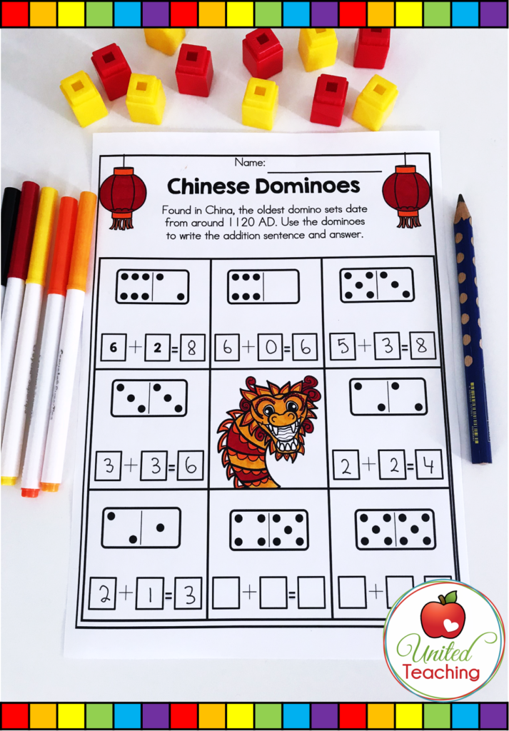 Chinese Dominoes Activity