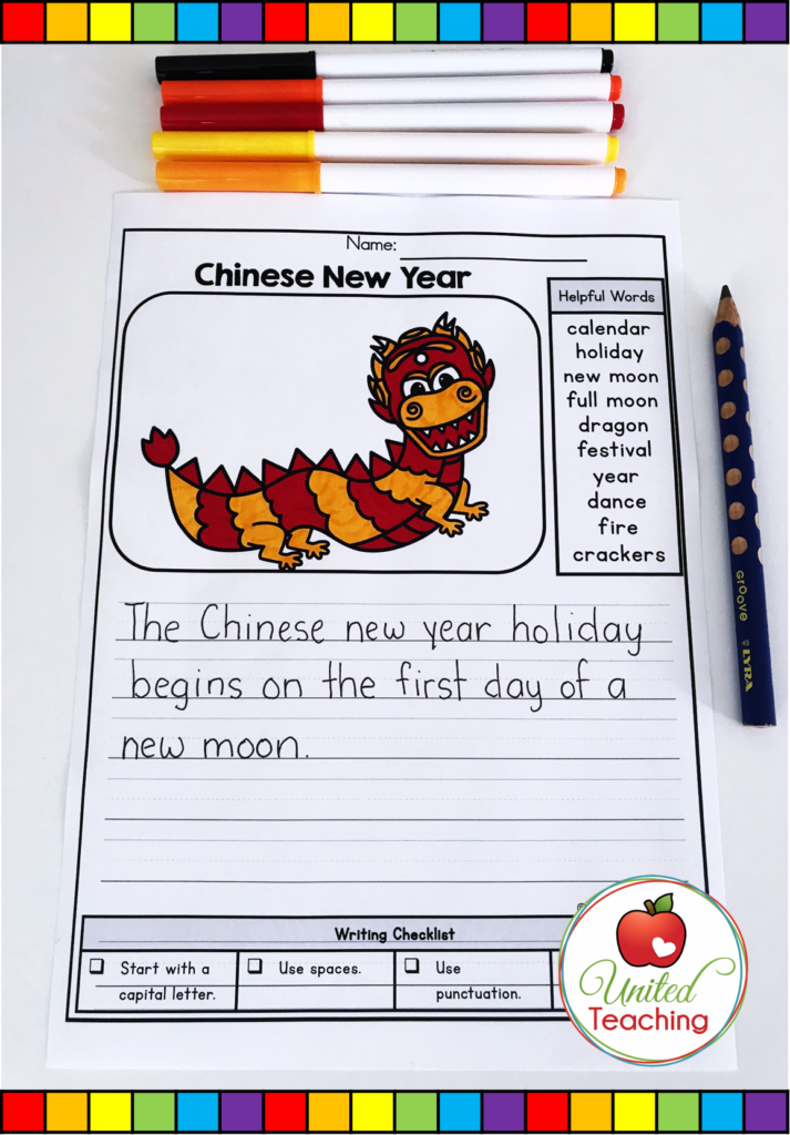 Chinese New Year Writing Prompt