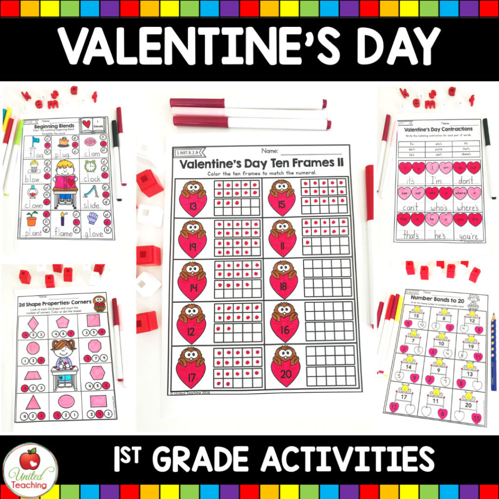Valentine's Day 1st Grade Activities
