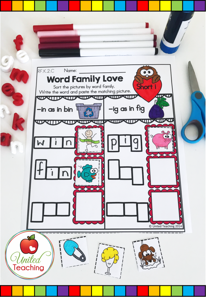 Valentine's Day Word Family Activity