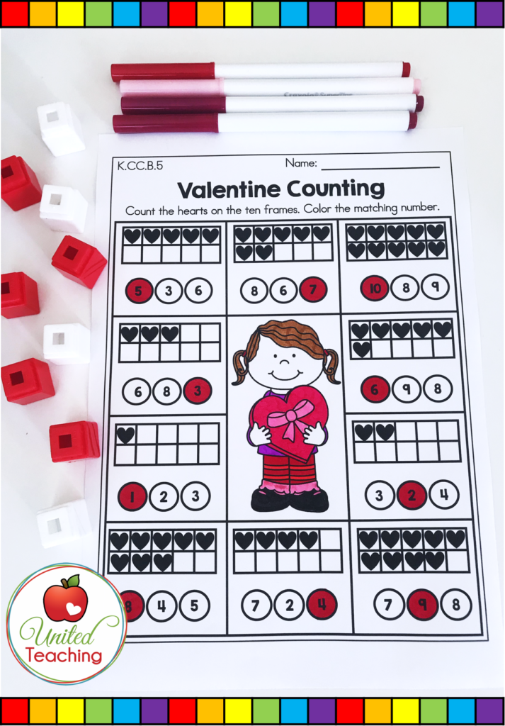 Valentine's Day Counting Activity