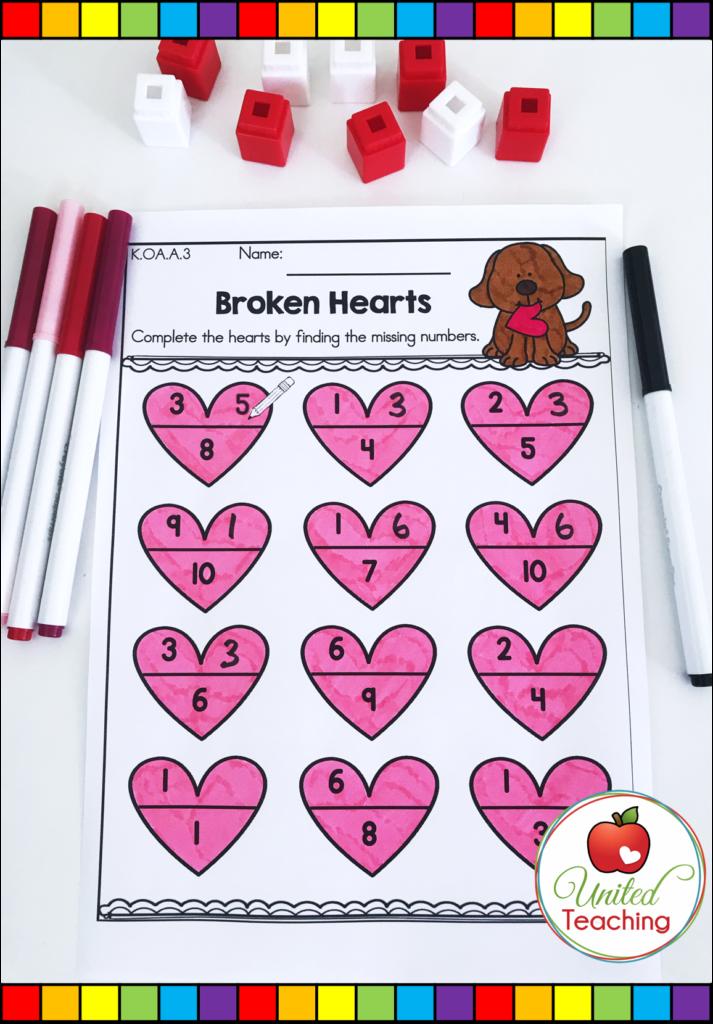 Valentine's Day Broken Hearts Activity