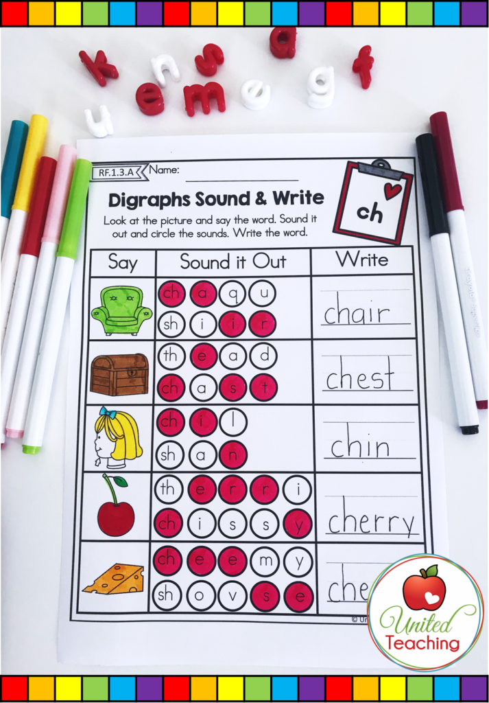 Digraphs Sound and Write