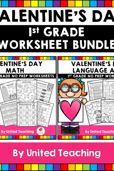 Valentine's Day Math and Literacy Bundle Cover