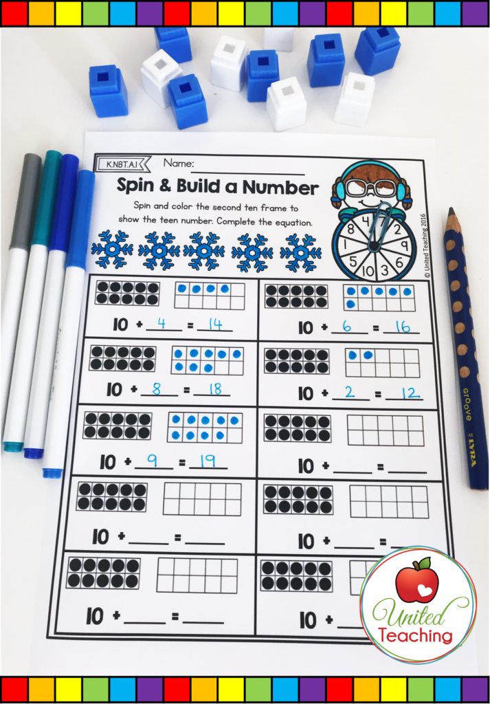 Spin and Build a Number Worksheet