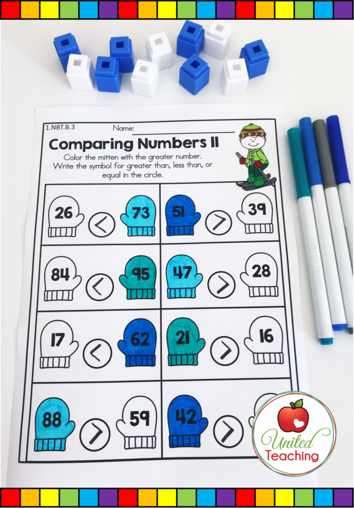 Comparing Numbers Worksheet