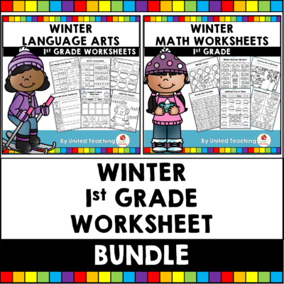 Winter Math and Literacy 1st Grade Bundle