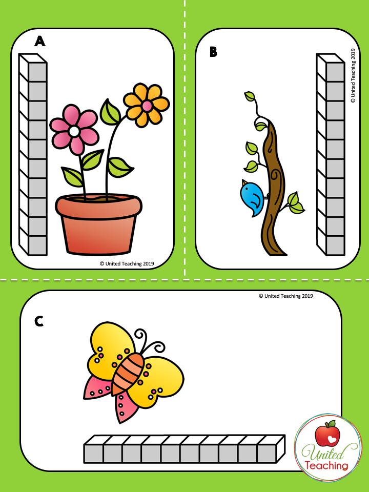 Spring measurement Cards Color
