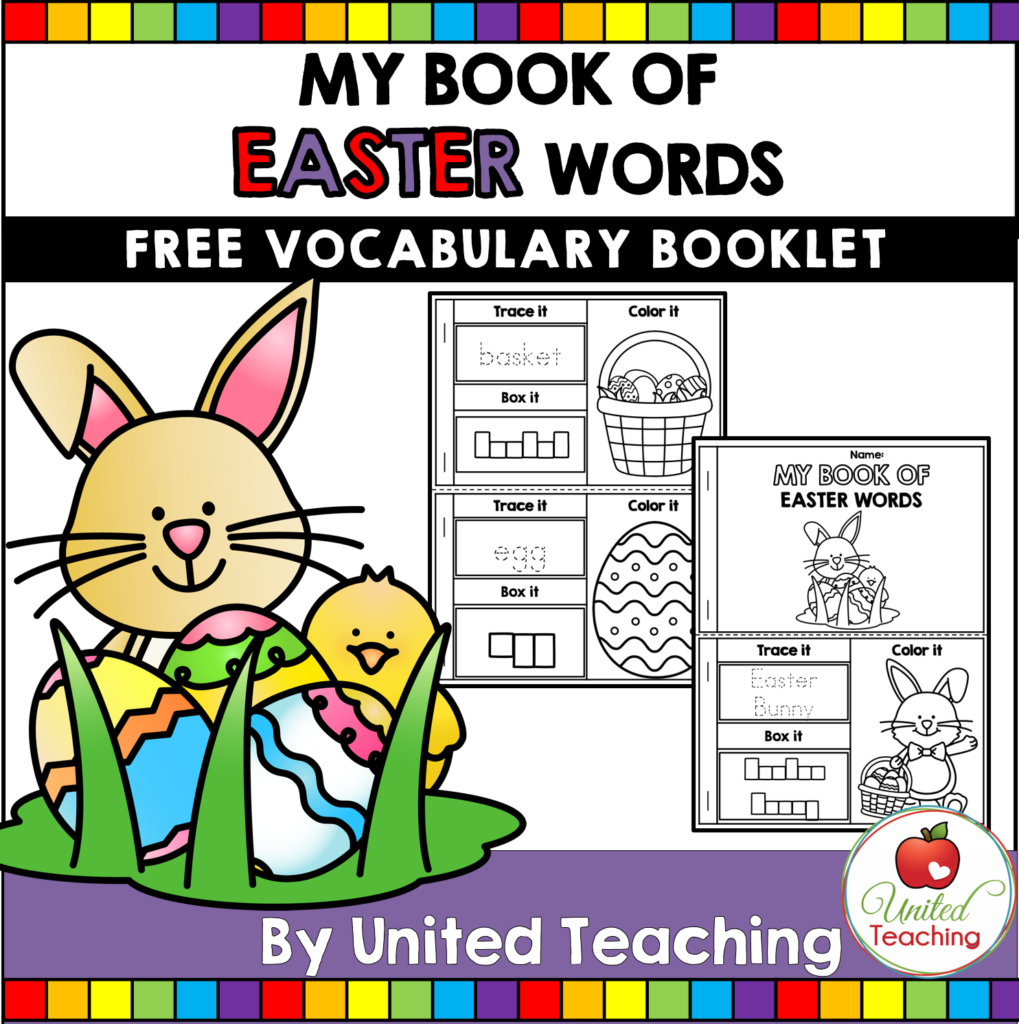 Easter Vocabulary Booklet