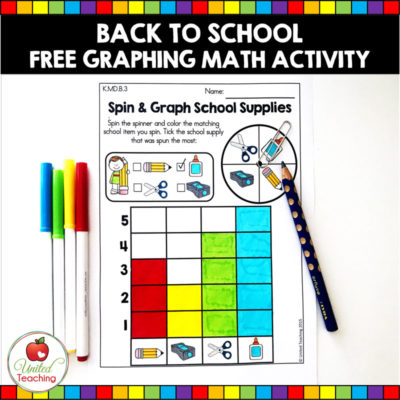 Back to School Spin and Graph Activity (FREE)