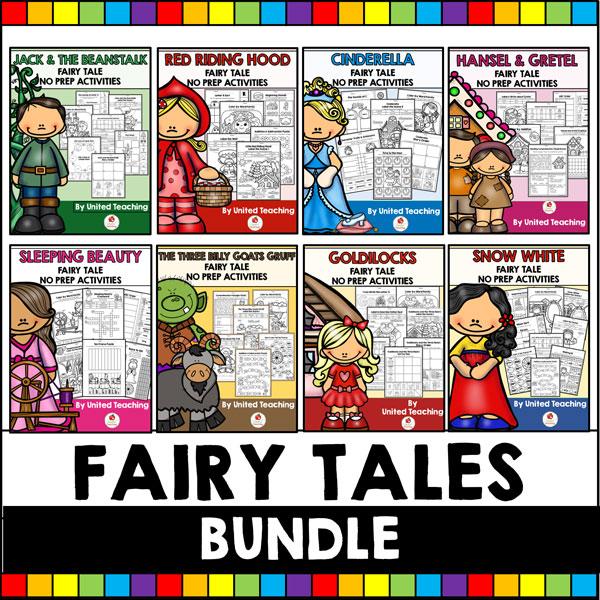 Fairy Tales No Prep Activities Bundle Cover