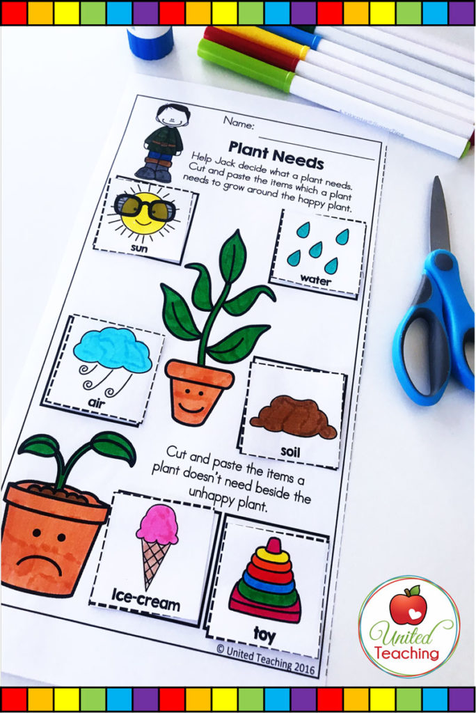 Jack and the Beanstalk fairy tale plant needs no prep science activity.