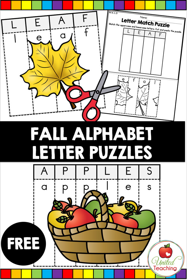 Free Fall Alphabet Letter Puzzles