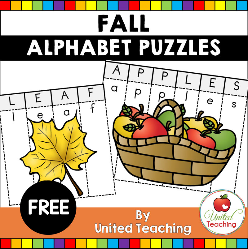 Fall Alphabet Letter Puzzles Activity