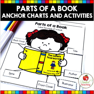 Parts of a Book Anchor Charts and Activities