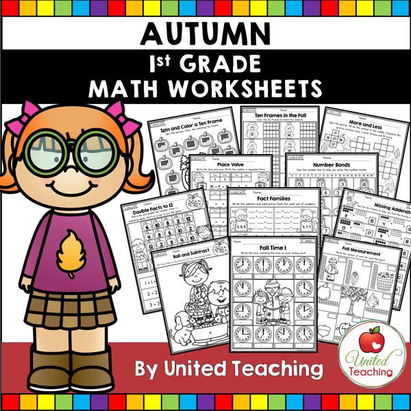 Fall Math Activities (1st Grade) packet.