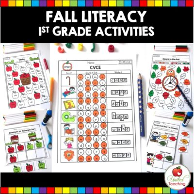 FALL LITERACY ACTIVITIES (1st GRADE)