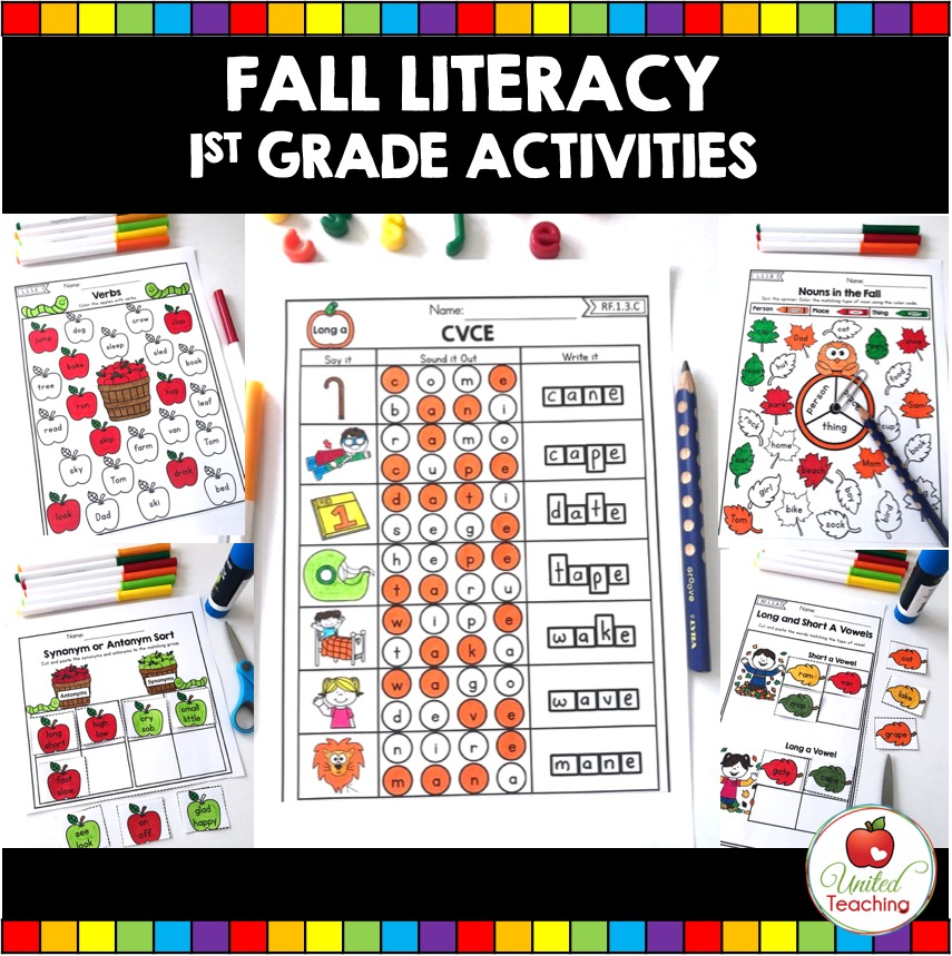Fall Literacy 1st Grade Activities