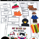 Free My Book of Fall Words printable