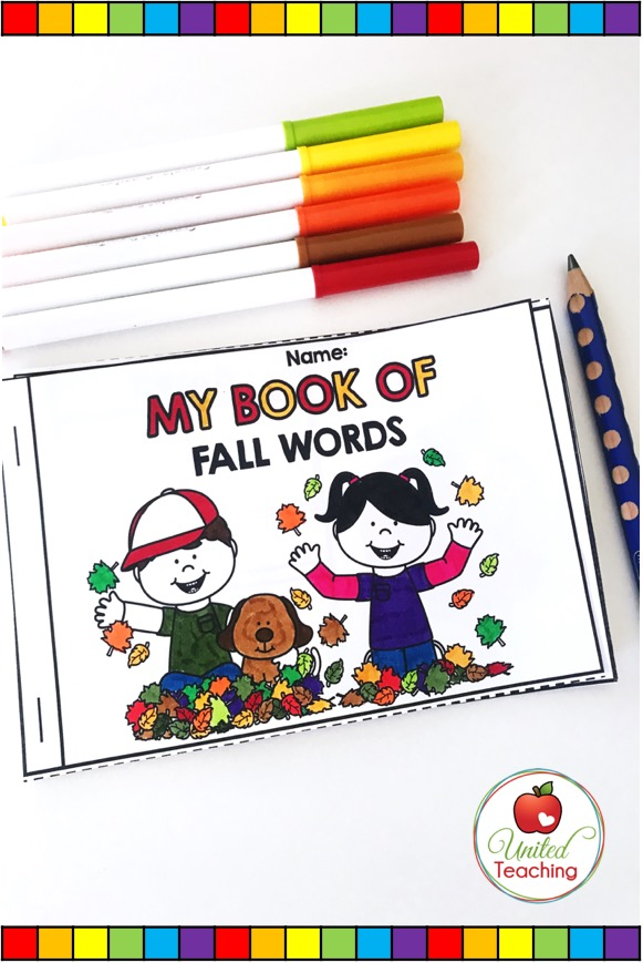 My Book of Fall Words Booklet