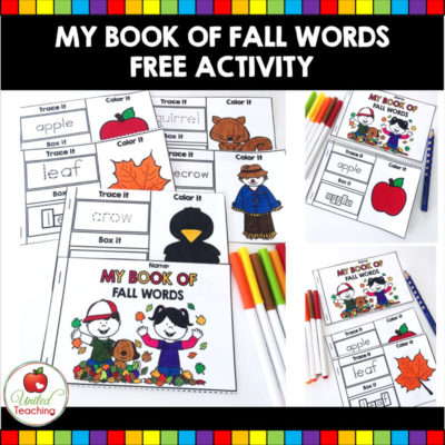 My Book of Fall Words – FREE Printable