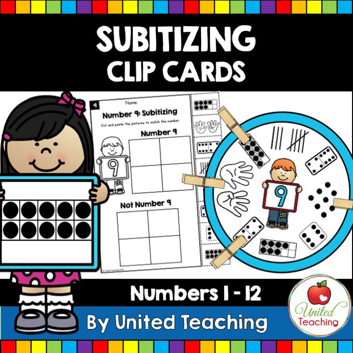 Subitizing Clip Cards