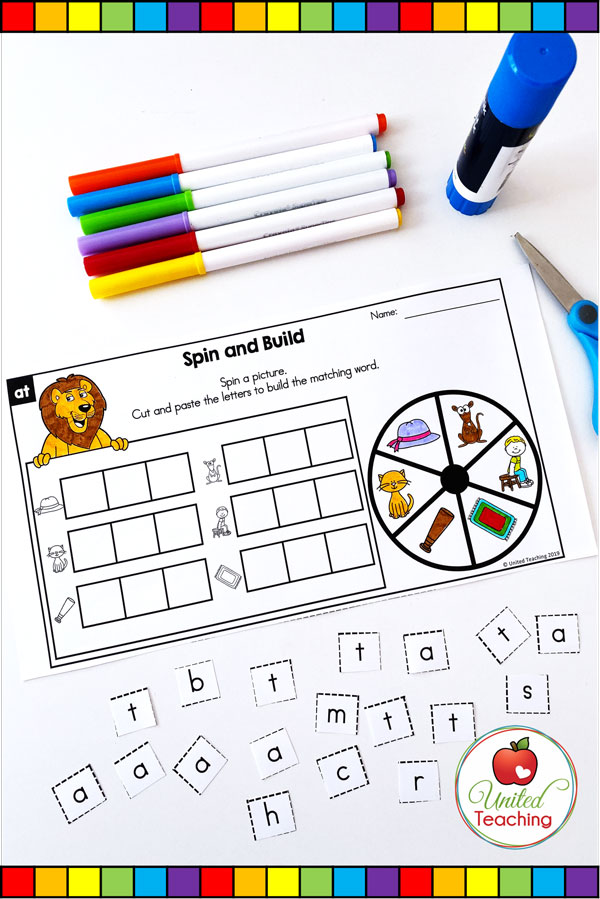 Spin to Win CVC Spin and Build game for beginning readers.