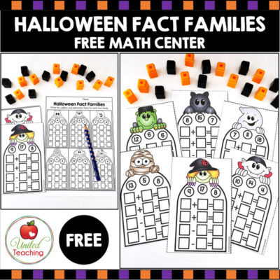 Halloween Fact Families – FREE Math Center